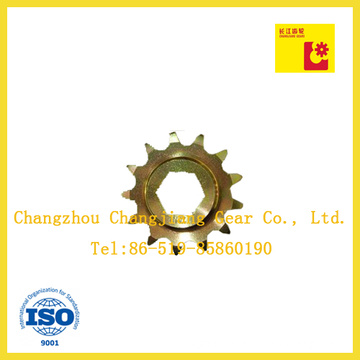 Industrial Chain Yellow Conveyor Sprocket with Six Angle Bore