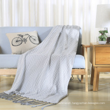 100 % Cotton Knit Throw Soft Blanket