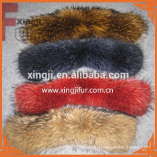 крашеный цвет 5*70см воротник для куртки енота меховым воротником