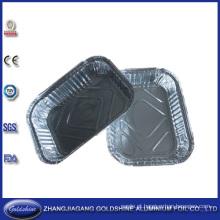 Placas descartáveis da folha de alumínio para o empacotamento de alimento do restaurante
