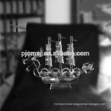 Custiomize traditional crystal dragon boat model for souvenir and gifts