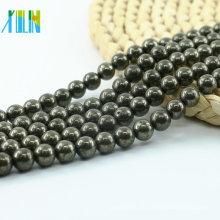 L-0576 Großhandel 4mm 6mm 8mm 10mm Hämatit natürlichen Edelstein Perlen auf Lager
