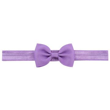 head hair elastic band grosgrain ribbon bow girl