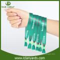 Custom Sport Sublimation Stoff Polyester Material Konzert Armbänder