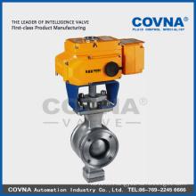 stainless steel flange electric valve with 12v 24v 220v 380v electric actuator