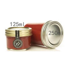 4 Oz Mason Frascos de vidrio para mermelada, miel, alimentos para bebés, conservas, especias