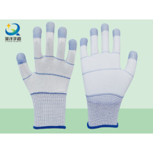 Guantes de seguridad reforzados con PU reforzados con dedos