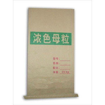 Concentrated Plastic Masterbatch Seam Bottom Kraft Paper Bag