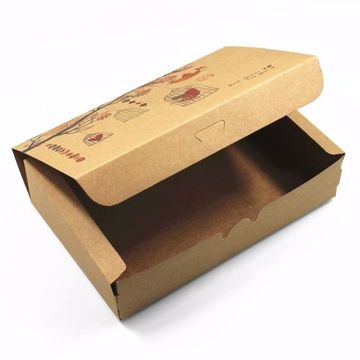 Brown Kraft Pappersbox Present Foldable Förpackningslådor
