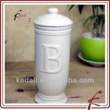 white glaze ceramic face tissue box cover