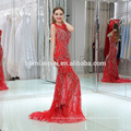 2017 real sample high-end red color long design heavy beaded evening dress sleevless back open arabic evening dress wholesale