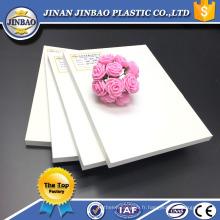 JINBAO planche de forex panneau de mousse de PVC / panneau de celuka de PVC / feuille de mousse de PVC noir