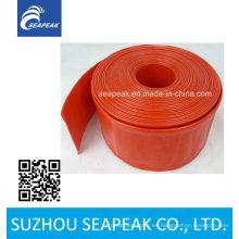 Venta caliente de gran diámetro de PVC colorido Layflat manguera