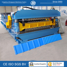 Профилегибочная машина для производства стальных двухслойных кровельных панелей CE