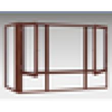 Vente chaude / prix compétitif / haute qualité / meilleures fenêtres pivotantes en bois