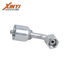 90 Elbow Metric Female 24 Cone O-Ring L. T One Piece Hose Fitting