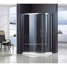 puerta de ducha de vidrio templado de seguridad fuera de cuadrante con marco QA-R1200900