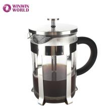 Novidade Durável 1.5L Grande Calor Reistant Pyrex Aço Inoxidável Café Imprensa
