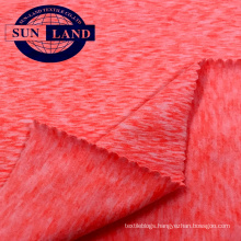 Peach brush melange spandex jersey for garment fabric