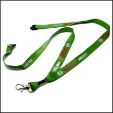 Promo Silk Screen Printing Logo Nylon Lanyard with Safety Buckle