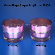 10g Cone Shape Purple Acrylic Cream Jar