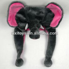joli chapeau d'animal en peluche éléphant