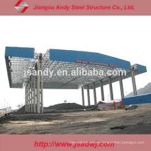 Estructura de acero prefabricada en el espacio Estación de gasolina / gasolinera Canopy