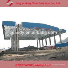 Prefabricated Steel Space Frame Gas Station / Petrol Station Canopy