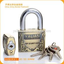 НАДЕЖНАЯ БЕЗОПАСНОСТЬ !!! Новый ключ безопасности антикварного дешевого цинкового сплава bullet Key Padlock