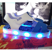 Children Fashion Summer Bright Sandals Flashing Light LED Shoes (TL67-1)