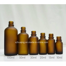 10ml 20ml 30ml 50ml Amber Frosted Glass Dropper Bottle