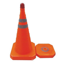 Retractable Safety Trafiic Cone (with or without police light)