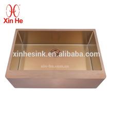 Lavabo de baño comercial hecho a mano modificado para requisitos particulares del SUS 304 del acero inoxidable, lavabo