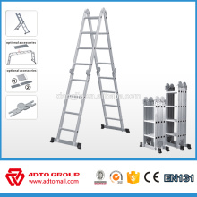 2018 ADTO Multi purpose function ladder,EN131 aluminum folding ladder, multi uso escalera