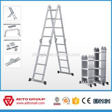 2016 горячая распродажа EN131 телескопическая алюминиевая лестница,3 секции по лестницам,взбираться по лестнице