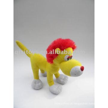 brinquedo macio do leão vermelho do luxuoso do cabelo