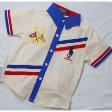 High Quality Cotton Woven Strip Boy Fashion Shirt Sq-17115