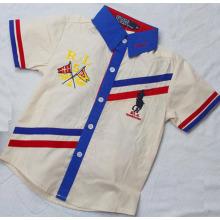 Hochwertiges Baumwollgewebtes Strip Boy Fashion Shirt Sq-17115