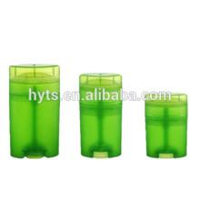 Recipiente desodorizante de alta qualidade da torção da forma oval de 15ml 40ml 50ml