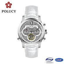 China Fashion Genuine Leather Strap Men Luxury Watch