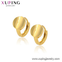 96481 Xuping jewelry gold alloy simple design Huggie round earrings for women