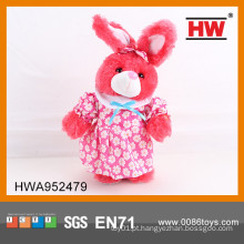 Funny coelhinho de pelúcia coelho eletrônico coelho dançando brinquedo com música 30CM