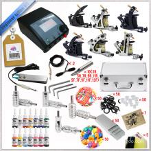 2015 newest Professional tattoo kits cheap 6 tattoo rotary machine tattoo kit