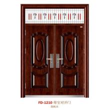 China Puerta de entrada del proveedor de puerta de acero Puerta de puerta de metal del hierro (FD-1210)
