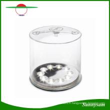 Vente chaude Portable Rechargeable Pliable Solaire Camping Lumière 10 LED Lanterne Solaire Gonflable
