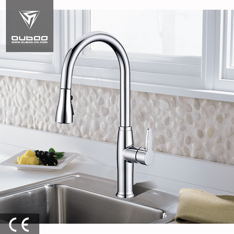 Deck mounted kitchen faucet