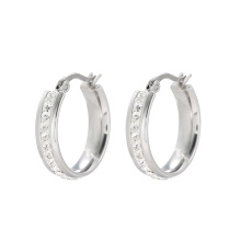 E-607 Xuping wholesale Jewelry Rhinestone simple design fashion women's Hoop earrings