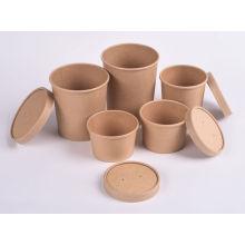 Одноразовые бумажные миски для рисового салата с крышками