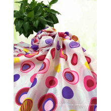 Flower Printed Polyester Pongee Fabric