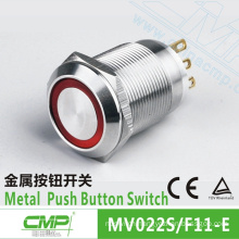 22mm CMP waterproof stainless steel light push button switch ip67